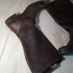 Frye Veronica Slouch Buckle Boots 12/43